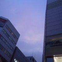 昨日の景色    紫の夕空