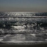 風荒(かぜあら)の渚に立ちぬ彫り深く我を刻みし海は轟く