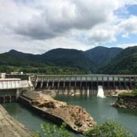 内ノ倉ダムのスタンプラリーとサッカー観戦