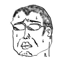 5分で描いた俺の似顔絵