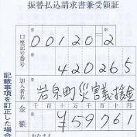 台風10号被災地支援金の使途報告です。