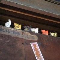 天井の招き猫たち