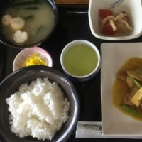 4月22日の日替り定食(550)は、チキンと竹の子のソテー、和風カレーソース です。