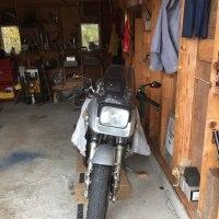 オートバイの冬眠