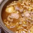 外食&鶏肉の唐揚げ・ネギソース&おにぎり&鶏肉とジャガイモの韓国鍋