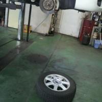 スタッドレスタイヤを取り替えました
