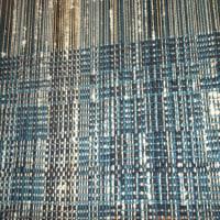 草木染糸と布で裂き織り