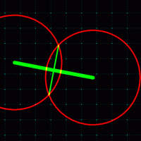 斜めの線を2分割する