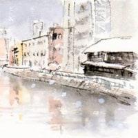 雪の降った日…納屋橋あたり