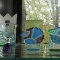 ガラス工房うず~藤巻晶子さんの工房でプレゼント選び~ガラスのペンダント♪
