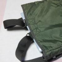 手提げの袋をリュックに改造にチャレンジ。何とか成功しました。