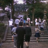 行きつけの地元の神社がお祭り騒ぎ(笑…