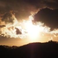 夕日の空・・・
