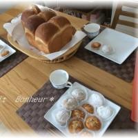 ソレイユ*ファミリー2~山型食パン&コーヒーまんじゅうと・・補講のおもち