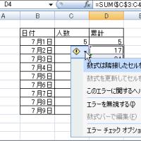 累計を簡単に表示しましょう(Excel初心者)
