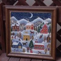 ニードルポイントの冬景色