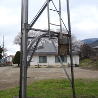 桜と火の見櫓 木島平村穂高