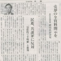 #akahata 売却の全資料開示を/森友学園問題 共産党:穀田氏が会見・・・今日の赤旗記事