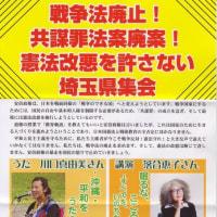 戦争法廃止!共謀法廃案!憲法改悪を許さない埼玉県集会