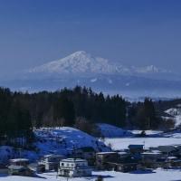 鳥海山のある風景(増田町付近)