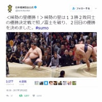 3月26日(日)のつぶやき 稀勢の里 優勝決定戦 大相撲 エディオンアリーナ大阪
