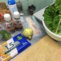 新鮮な野菜を使ったスパゲッティー