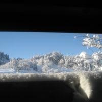 大雪注意報の今朝