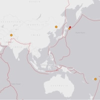 地震予測  日本域はふたたび温熱に覆われています。大規模な地震は発生しにくい状況です。