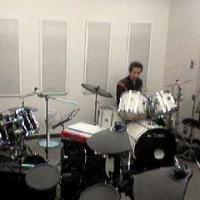 ドラムのレッスン。