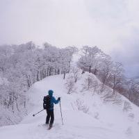 新雪の能郷白山はへヴィだぜ