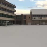 今朝の高松小学校