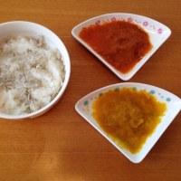 今日の離乳食(昼御飯)【111日目】