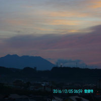 2016年12月05日、朝の桜島