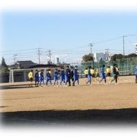 寒風に立ち向かう~サッカー部・新人戦県大会
