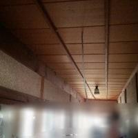 廊下にLED照明器具取り付け