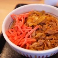 なか卯の牛丼 小鉢つき