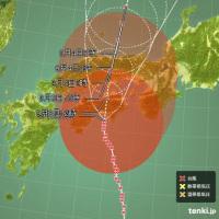 台風がもたもたしている