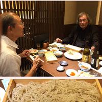 航空写真家・芥川善行さんと久々に日本蕎麦屋に。