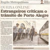 ポルトアレグレ地元紙に記事が掲載