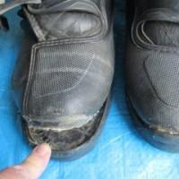 オフロードブーツの靴底補修
