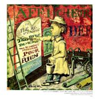 10月のポーラ美術館:レオナール・フジタ/ポスター貼り