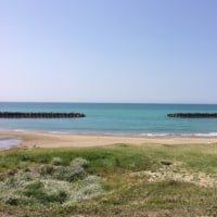 今日は海岸沿いをサイクリング
