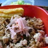 鮭つみれの味噌餡掛けと卵餅弁当/ぽこお嬢
