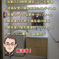 福岡 浴室・洗面脱衣室の結露・湿気 検証と対策!