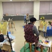 絵画サークル雅会に参加/東京で桜開花