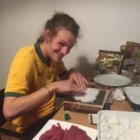 スイスのデイビッドは今日寿司を作ったそうです(笑)