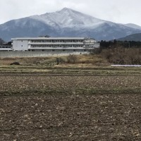 久しぶりに冠雪の筑波山