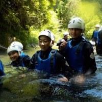 2年生 キャンプ スプラッシュ・ウォーキング