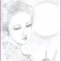 美人画「音羽(おとわ)」