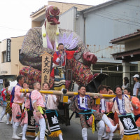白山市鶴来町の「ほうらい祭り」見学